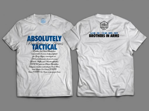 Camiseta Branca Unisex - Absolutely Tactical