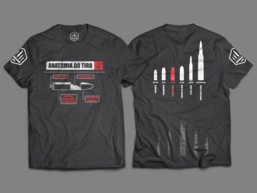 """Camiseta Unisex """"Anatomia do Tiro"""""""