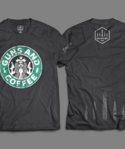 """Camiseta """"Guns and Coffee"""" - Coleção 2020"""