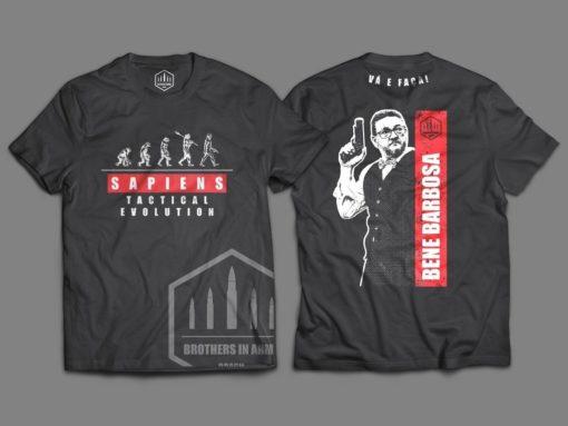 "Camiseta Unisex ""Sapiens - Tactical Evolution"" by Bene Barbosa"