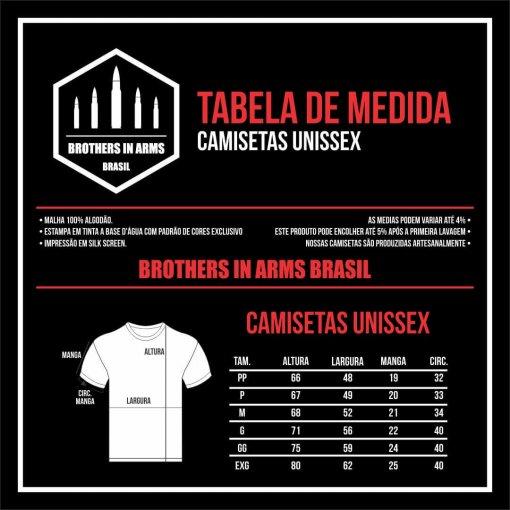 Tabela de Medidas Unisex