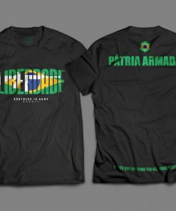 "Camiseta Preta ""Liberdade"" Brothers in Arms Brasil"